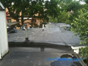 Flat Roof With Tapered Insulation In Cambridge, MA