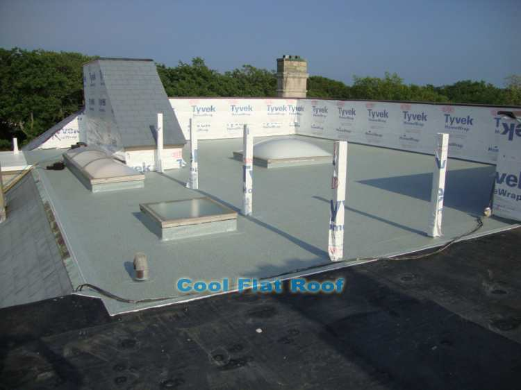 image of Flat Roof Deck in Newport, RI - IB DeckShield