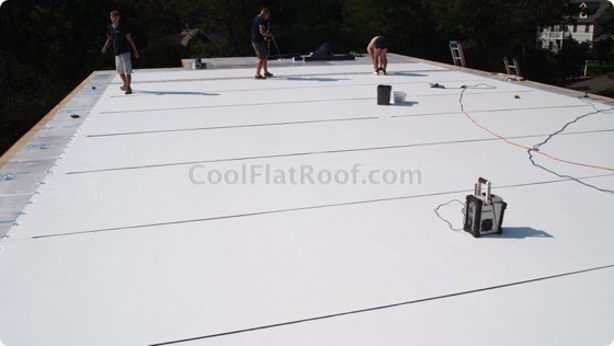 IB Flat Roof installation in Weston, MA